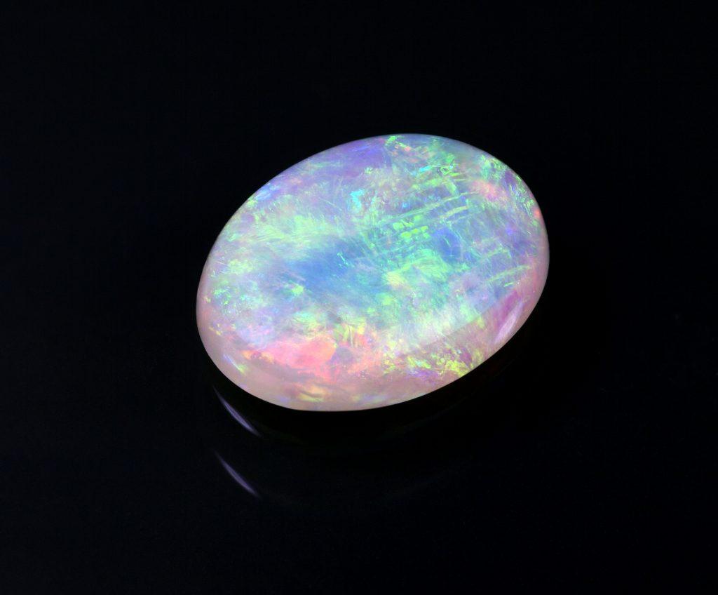 opal on black background