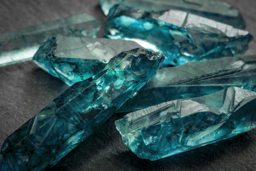 Aquamarine raw crystal