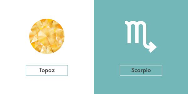 topaz and scorpio symbol