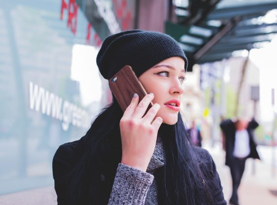 girl talking on cellphone