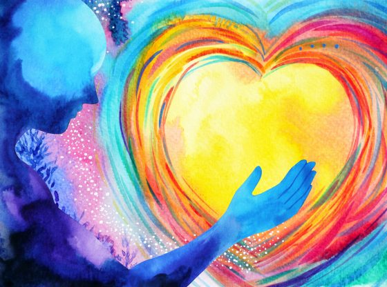 colorful painting of heart