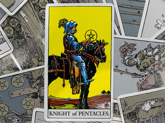 Knight of Pentacles Reversed Tarot Card | Keen