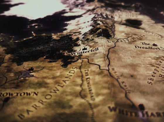 Game of Thrones map of The Seven Kingdoms